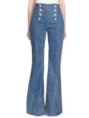 37944ff01ad BALMAIN High Waisted Bell Bottom Jeans.  balmain  cloth
