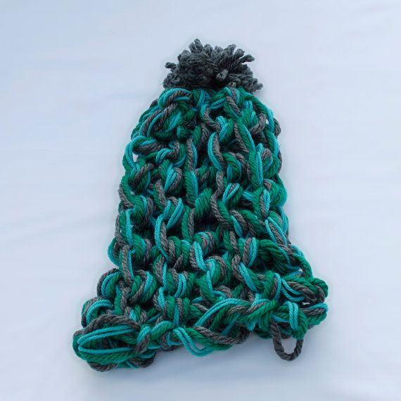 Chunky Arm Knitted Hat by MeekyChicy on Etsy.