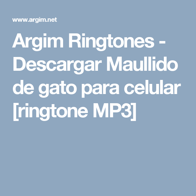Descargar ringtones divertidos y molestosos gratis.