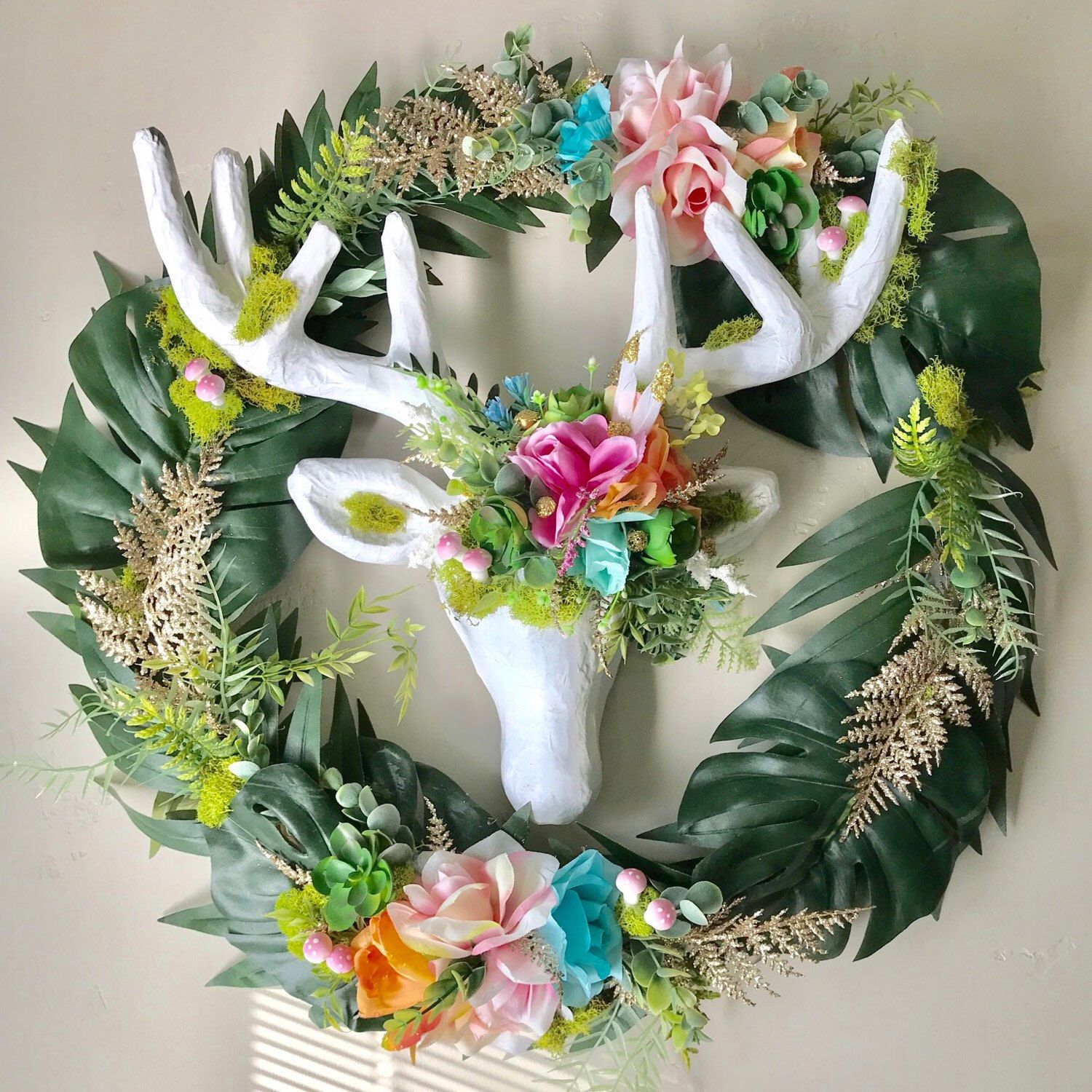 Boho Deer Wreath In stock while it lasts Nice for a birthday