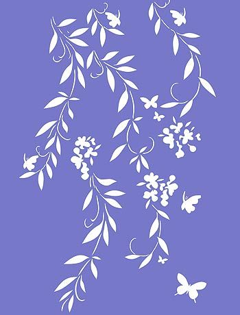 Oversize Flower Silhouettes Stencil - Henny Donovan Motif