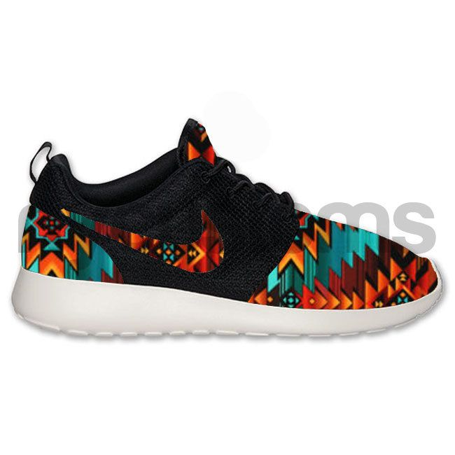 Nike Roshe Run Black Anthracite Tribal Aztec V2 by NYCustoms, $215.00