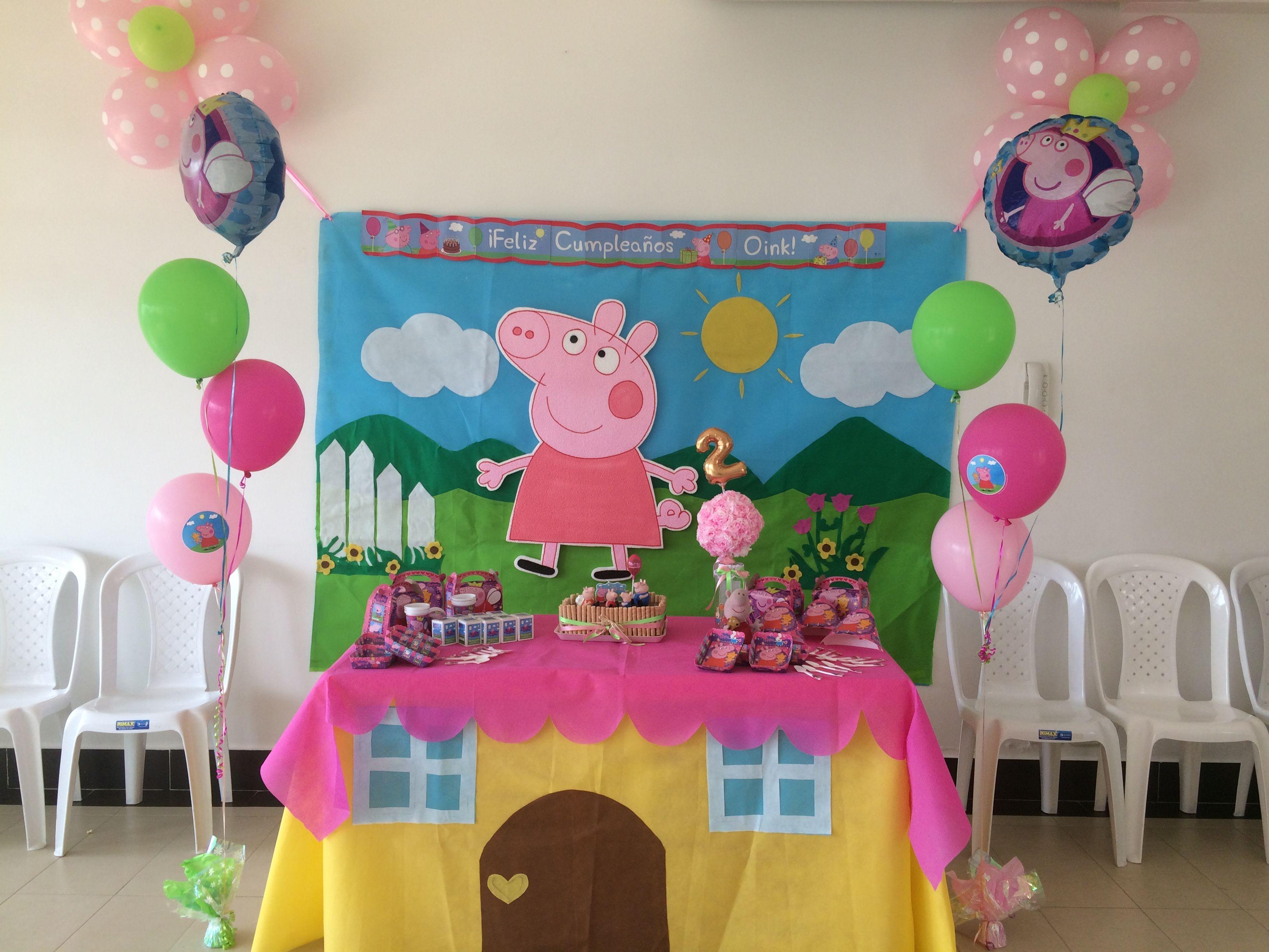 Decoracion Fiesta Peppa Pig Cumple De Keylis Y Keylin Pinterest