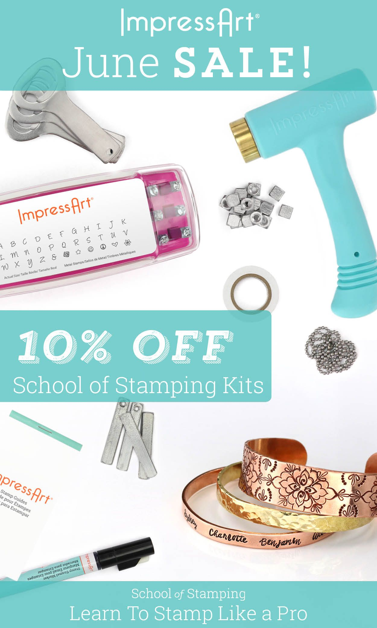 10 Off All School Of Stamping Kits Through The Month Of June