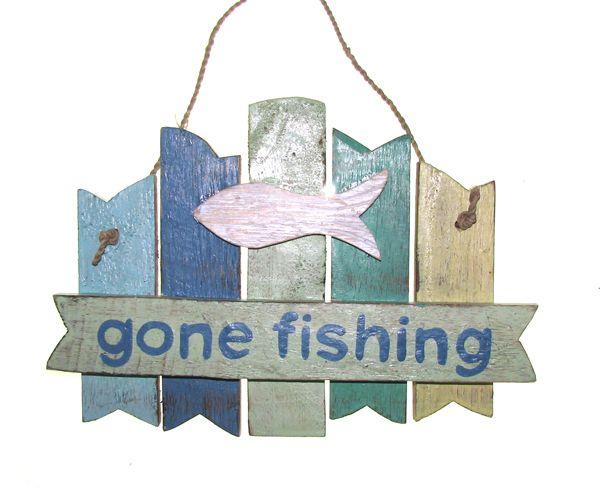 Gone Fishing Signs Decor: Home :: Beach & Coastal :: Beach & Surf Signs :: GONE