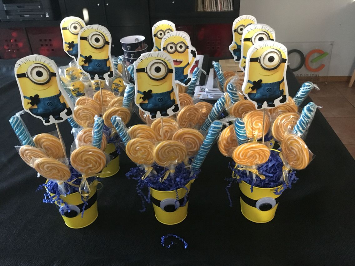 Minion Lollipop Center Pieces CenterpiecesCenterpiece IdeasMinion Birthday PartiesBday