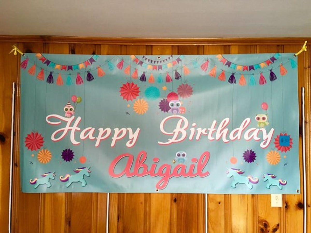 Happy Birthday Abigail Banner on Mercari