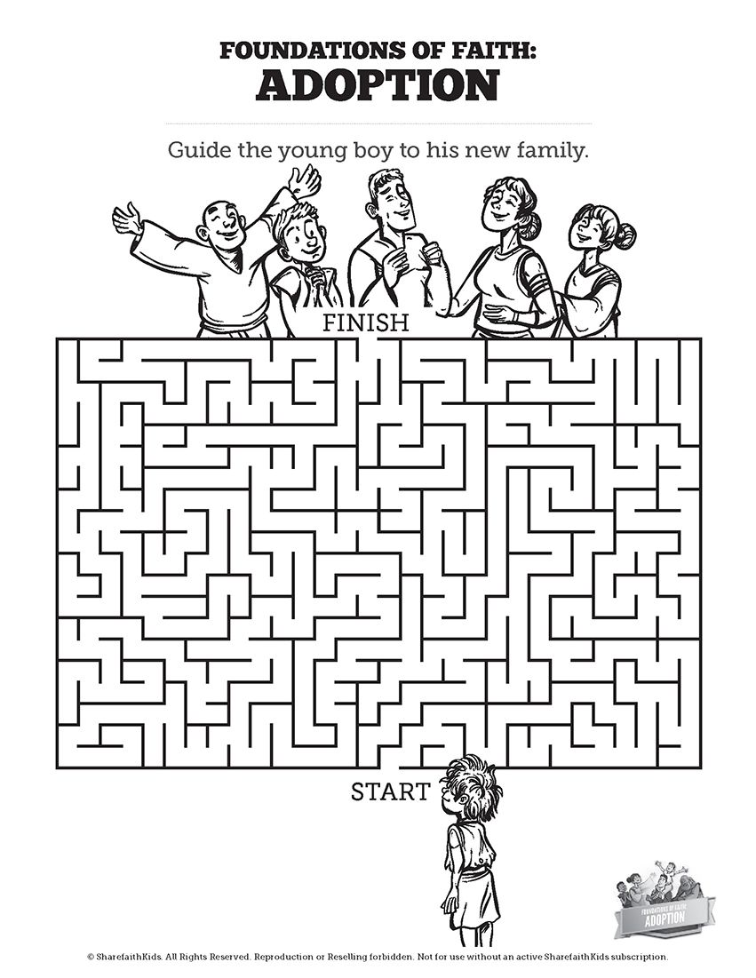 Romans 8 Adoption Bible Mazes Can Your Kids Navigate Every Twist And Turn Of This Adoption Activity Fe Sunday School Lessons Sunday School Kids Sunday School [ 1101 x 851 Pixel ]