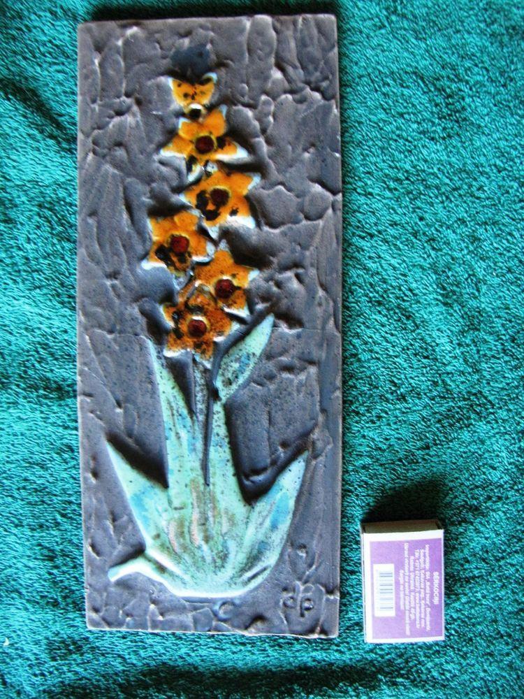 vintage wall plaque tile plate sweden tilgman keramik. Black Bedroom Furniture Sets. Home Design Ideas