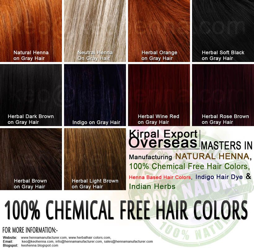 Ammonia And Ppd Free Hair Colors Amp Dye 100 No Chemical