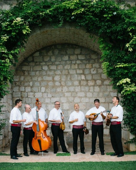 During The Ceremony Klapa Ragusavecchia Provided Music Traditional Croatian Singing From Region