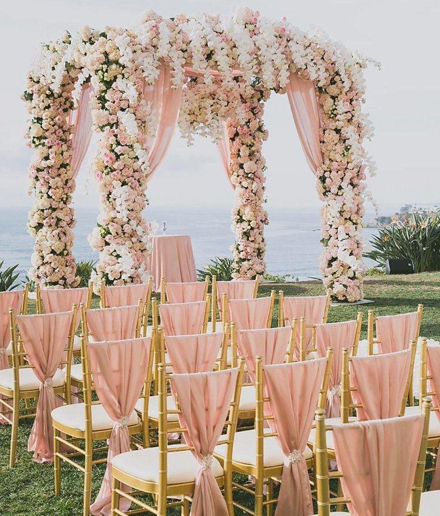 Wedding Ideas By Colour: Rose Gold Wedding Theme - Saying 'I do'   CHWV