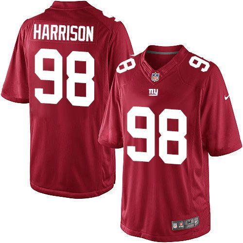 youth nike new york giants 98 damon harrison limited red alternate nfl jersey