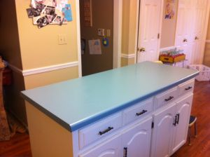 Our Old Ugly Blue Formica Countertop From When Our Hose Was Built In 1987.  Please. Paint FormicaFormica CountertopsLearn ...