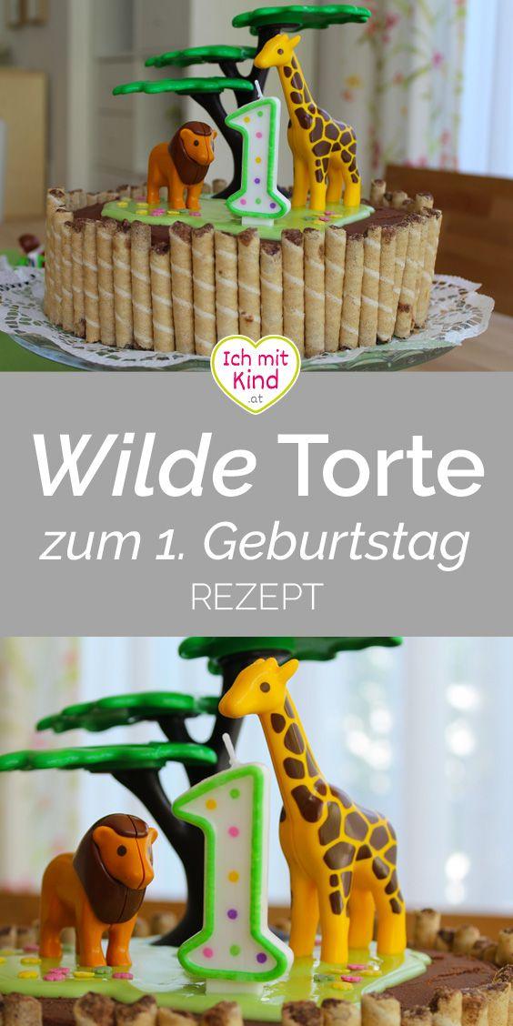 Wild and One – Die wilde Dschungel-Torte zum ersten Geburtstag – Ich mit Kind
