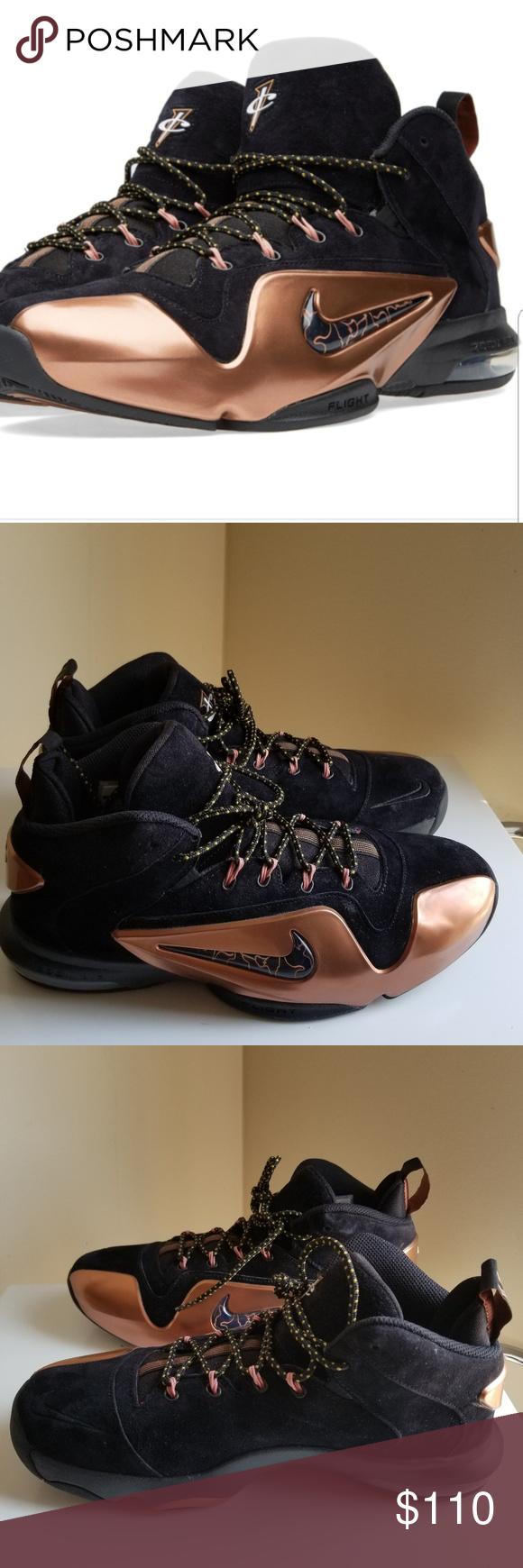 Nike Air Penny 6 Copper Mens Size 9 | Black nikes, Nike air