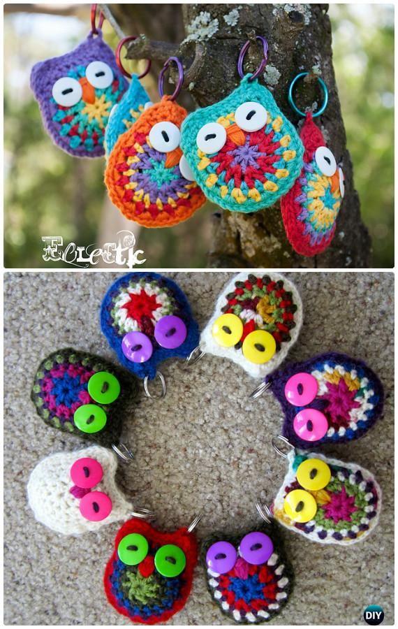 DIY Crochet Owl Key Chain Free Pattern- #Crochet Owl Ideas Free ...
