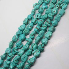 10x14mm Blue Turkey Turquoise Irregular Gemstone Loose Beads 15/'/'