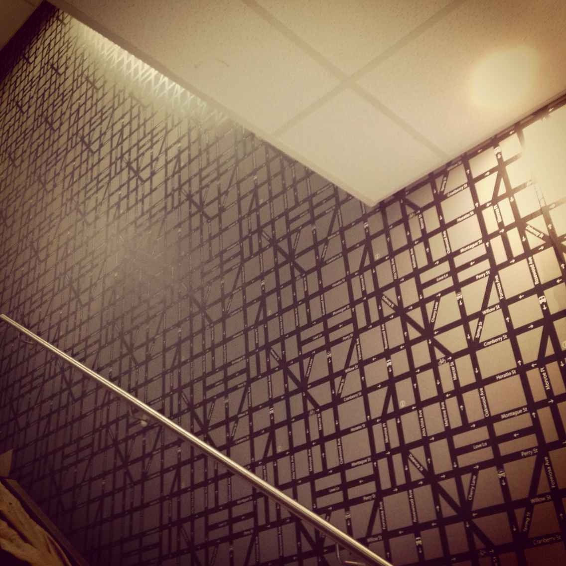 Staircase Wallpaper Installation By Cuttingedgewallpaperingau Melbourne And Mornington