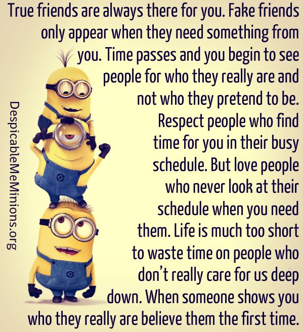 Pin By Amber Shelton On Minions Fake Friends Fake Friend Quotes True Friends