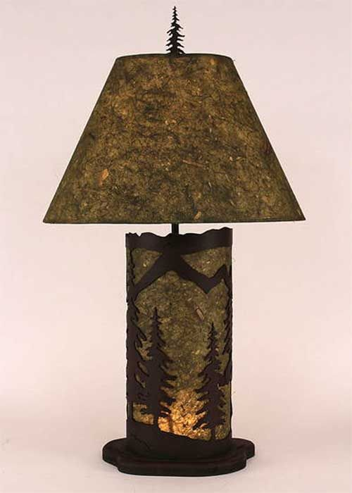 Pine Lamp With Nightlight Base Interior Designing Table Lamp