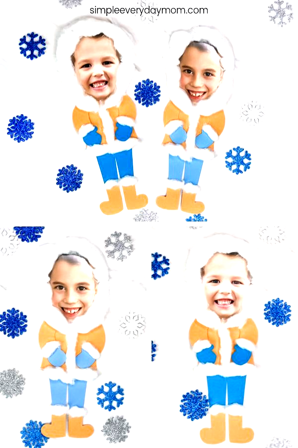 Looking for a fun and easy winter craft for kids? This photo craft is perfect for preschool and kin