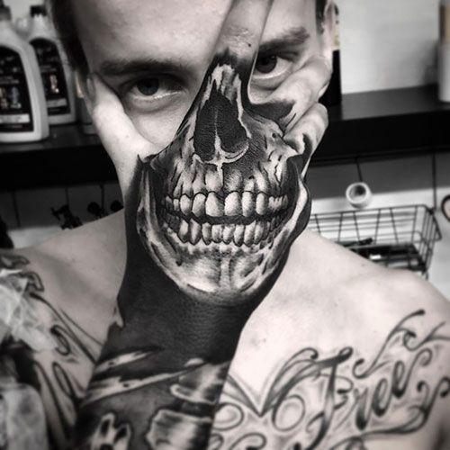 101 Best Skull Tattoos For Men Cool Designs Ideas 2019 Guide Skull Hand Tattoo Hand Tattoos For Guys Skull Tattoo Design