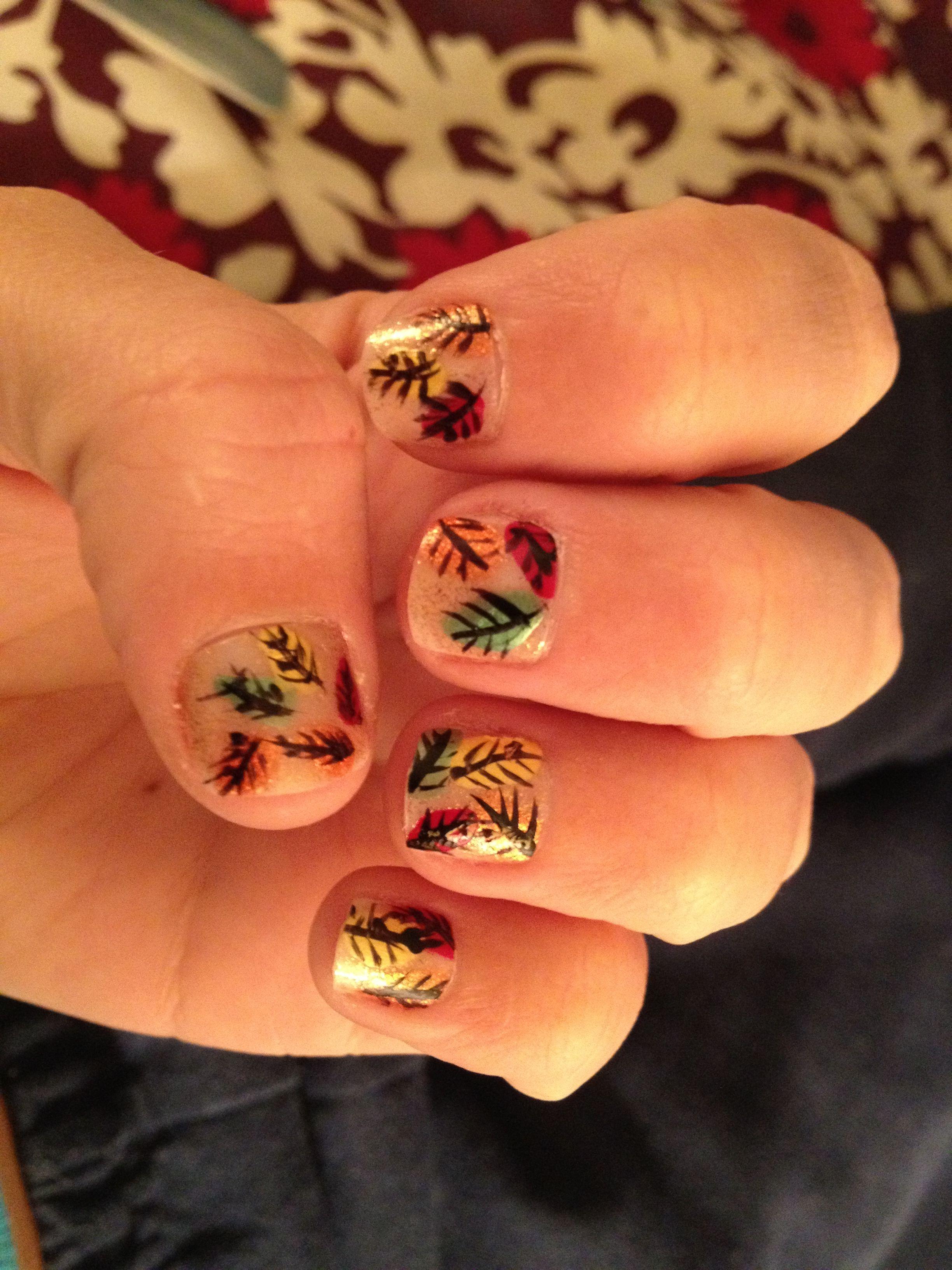 Fall nail art - Oct. 2012 | Fall Nail Design | Pinterest | Holiday ...