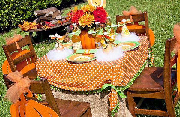 Fall Party Centerpiece Ideas : Little pumpkin fall harvest party birthday parties