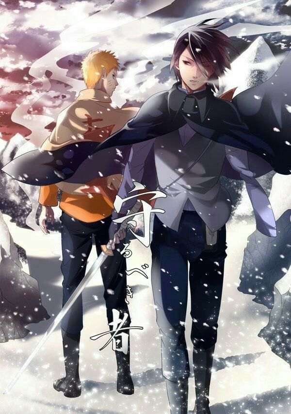 Naruto Hokage Sasuke Cool Text Snowy Mountains Boruto Com