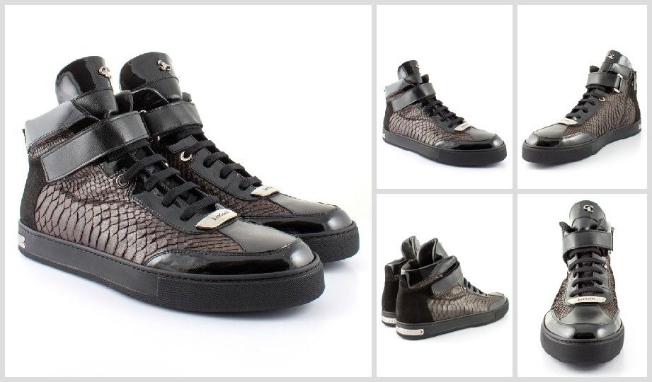 #Luxury http://www.boudifashion.com/mens/departments/mens-designer-shoes /roberto-botticelli-python-hightop-black.html #RobertoBotticelli #Designer # Sneakers ...
