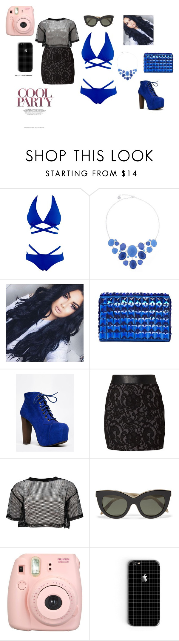 """hello summer party"" by sara-fumanti ❤ liked on Polyvore featuring Liz Claiborne, French Connection, Speed Limit 98, DEPT, Boohoo, Victoria Beckham and Fujifilm"