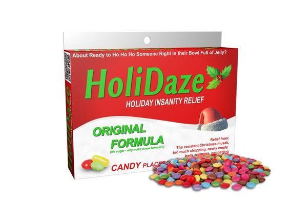 Funny Secret Santa Gift - Holidaze Candy Box or Bottle! Stocking Stuffers Christmas Gag Gift #secretsantagifts