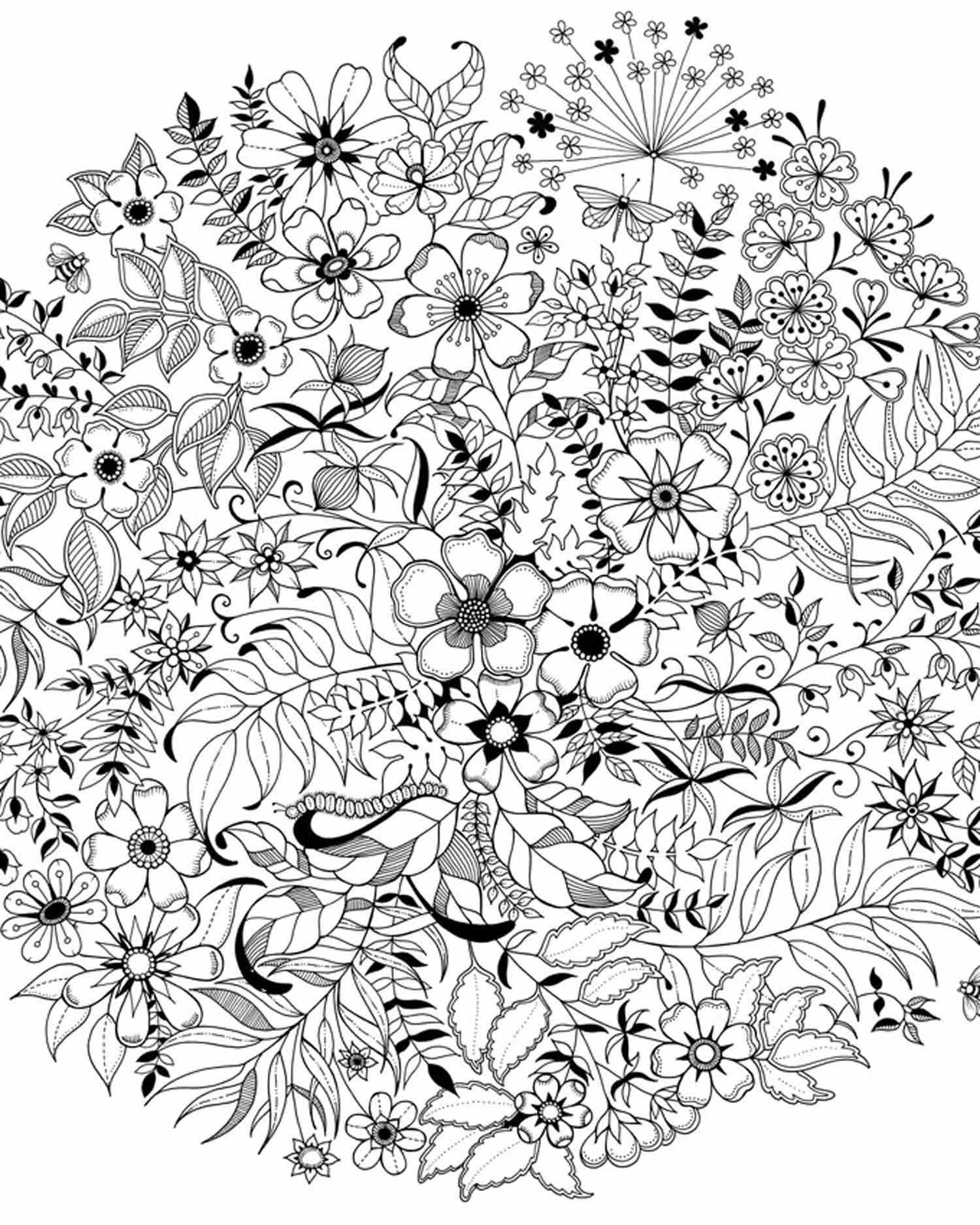 Pin On Colouring Secret Garden 5