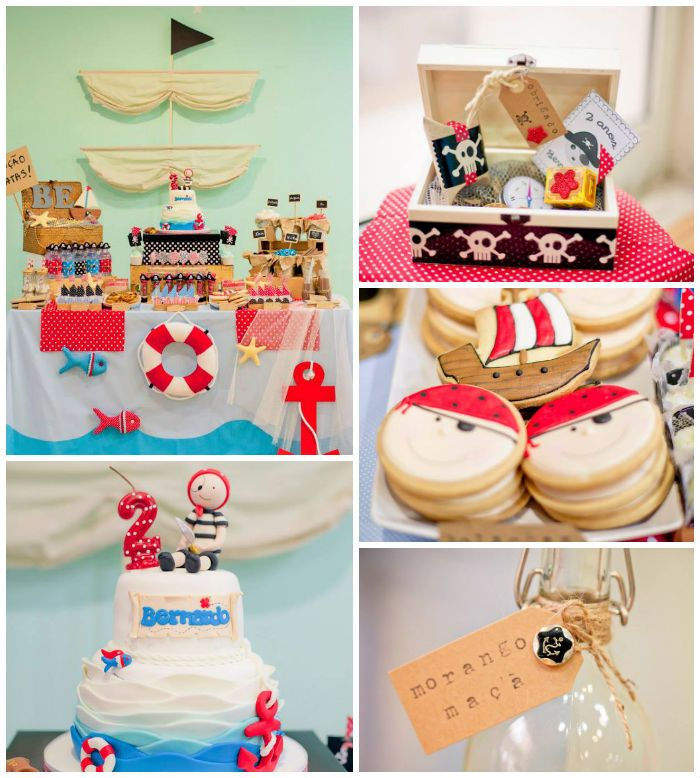 Pirate Themed Second Birthday Party Decor Ideas Planning Styling Pirate Themed Birthday Party Pirate Birthday Party Pirate Theme Party