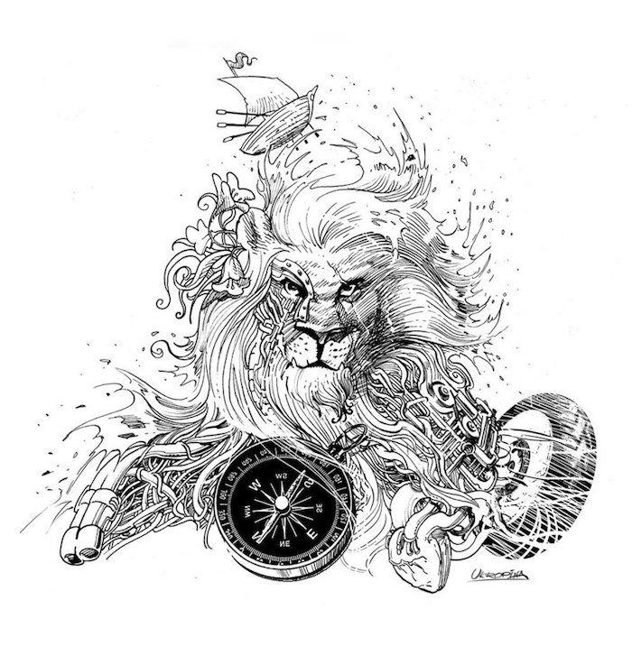 1001 Coole Lowen Tattoo Ideen Zur Inspiration Tattoo Ideen