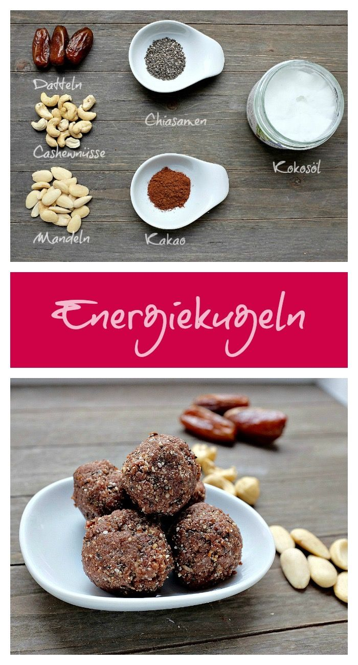 Photo of Energy balls made from dates, nuts & coconut oil – quick recipes from my kitchen