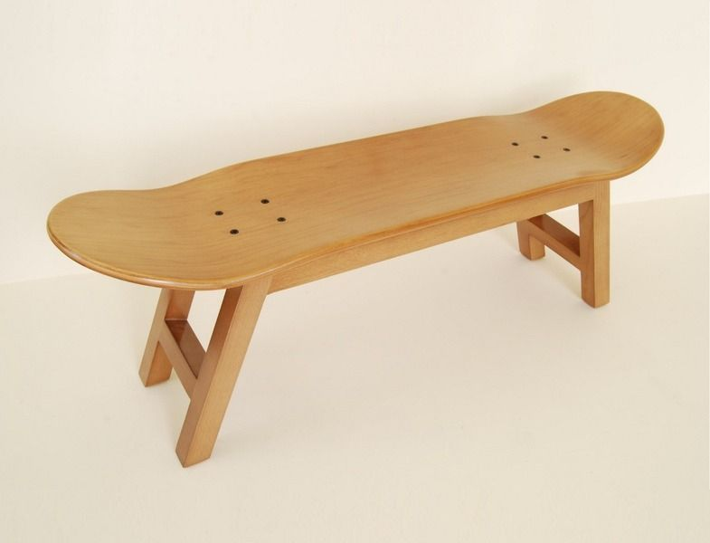 Hocker, Bank Aus Skateboard // Stool Made Out Of A Skateboard Via  DaWanda.com