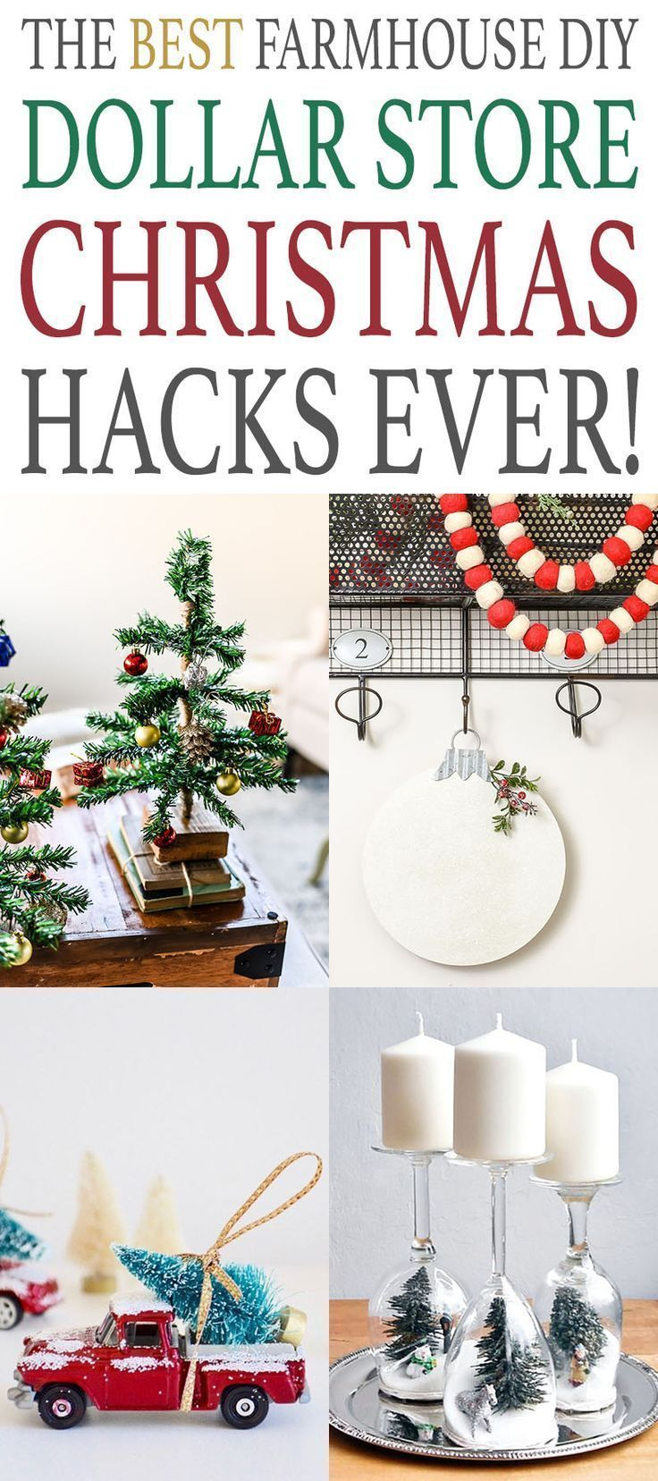 The Best Farmhouse DIY Dollar Store Christmas Hacks Ever Its never too early to start planning what you will be making for the Christmas and Holiday Season So check out t...