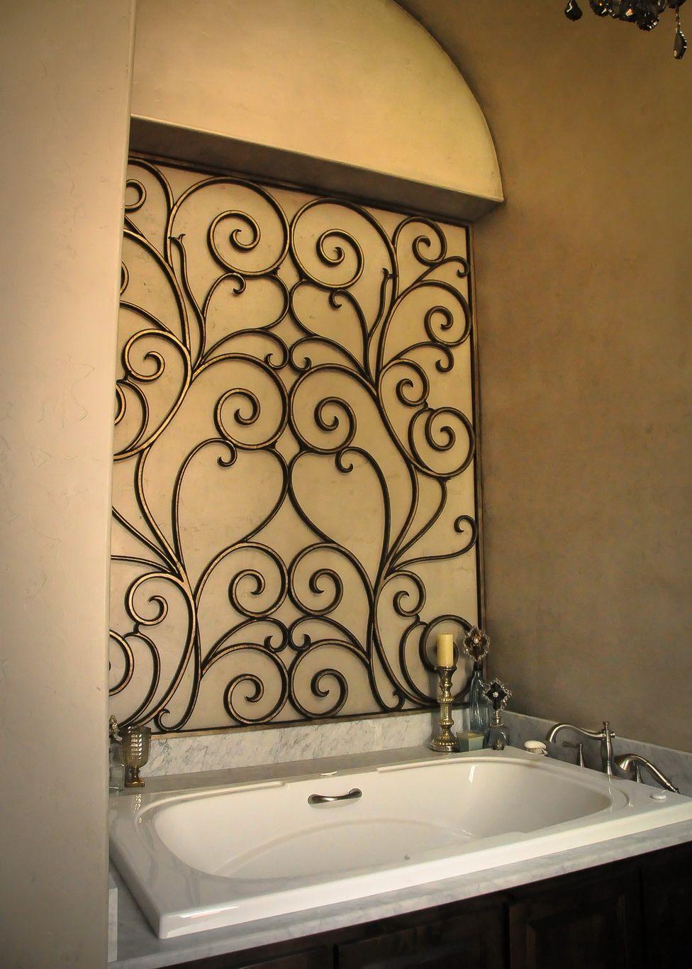 Tableaux Faux Iron Decorative Grille Bathroom Niche 20160614 3