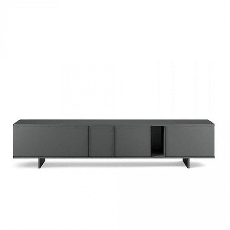 modern minimalist design low sideboard tv stand ziggurat grey by