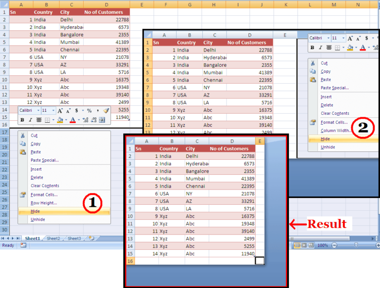 Hide Unused Rows And Columns Make Your Worksheet Look Neat Excel Tutorials Excel Excel Spreadsheets