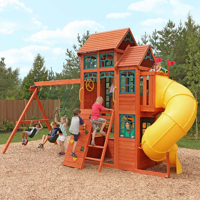 Cedar Summit Canyon Ridge Playset Do It Yourself Penelope S Yard