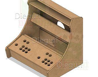 Arcade Bartop Machine Evo Cabinet cnc router dxf plans ...