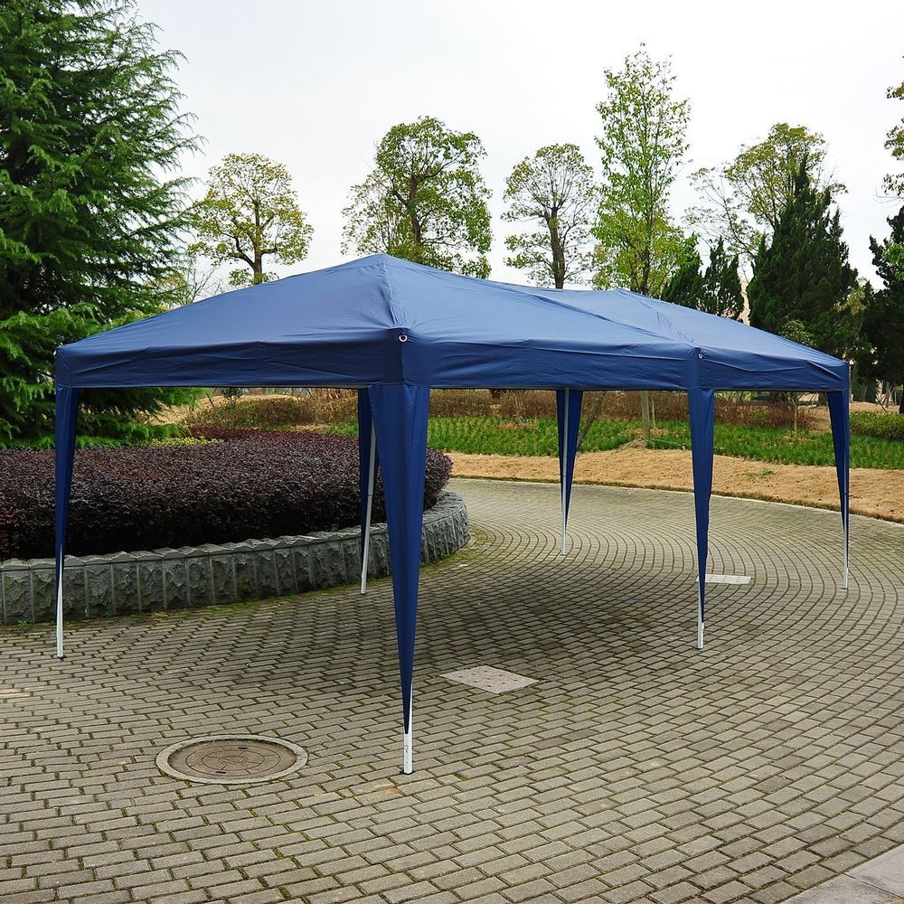 Foldable Pop Up Gazebo Canopy Outdoor Windbars Waterproof