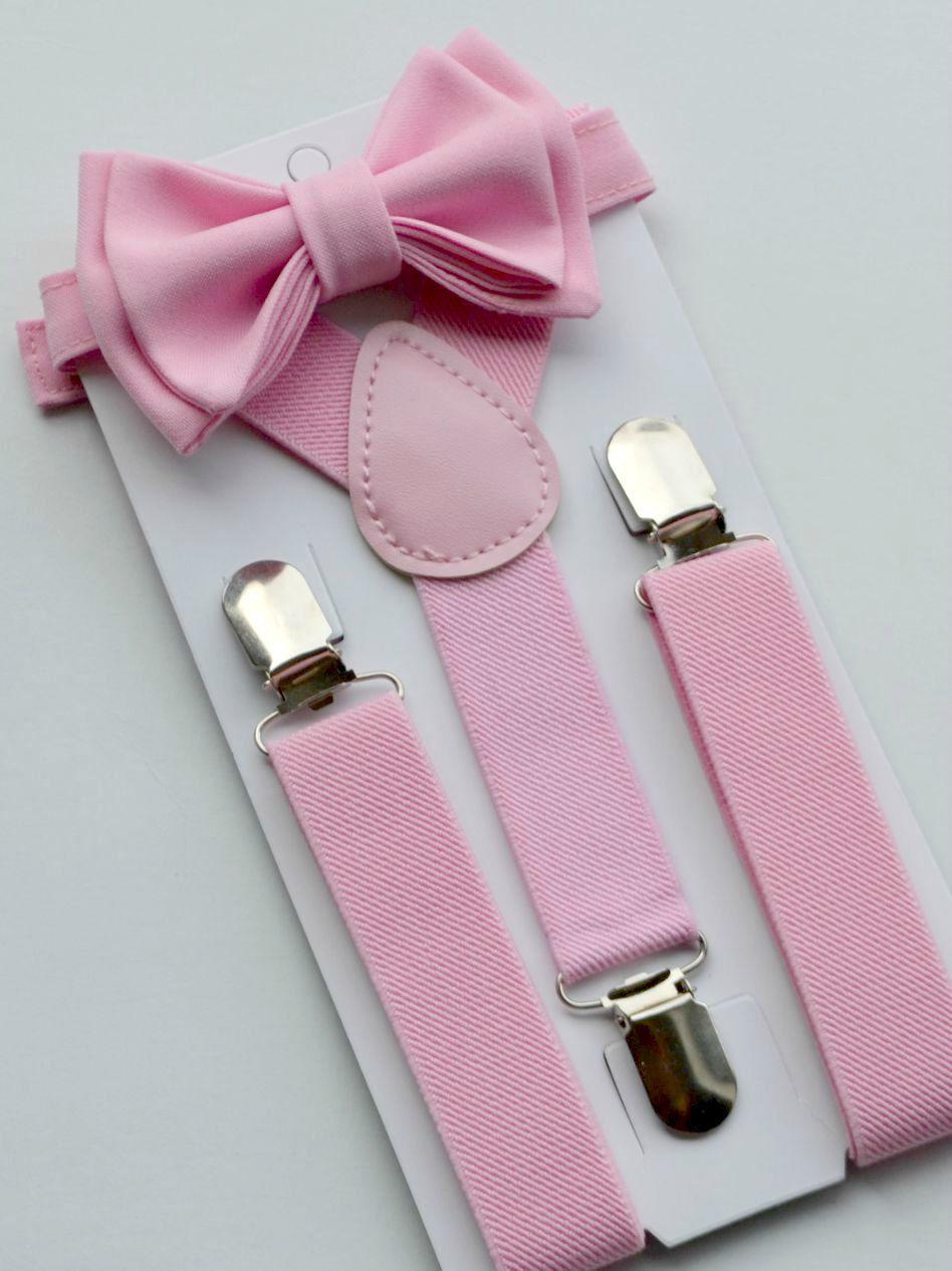 Blush Pink Bow Tie Blush Pink Suspenders Suspenders by armoniia ...