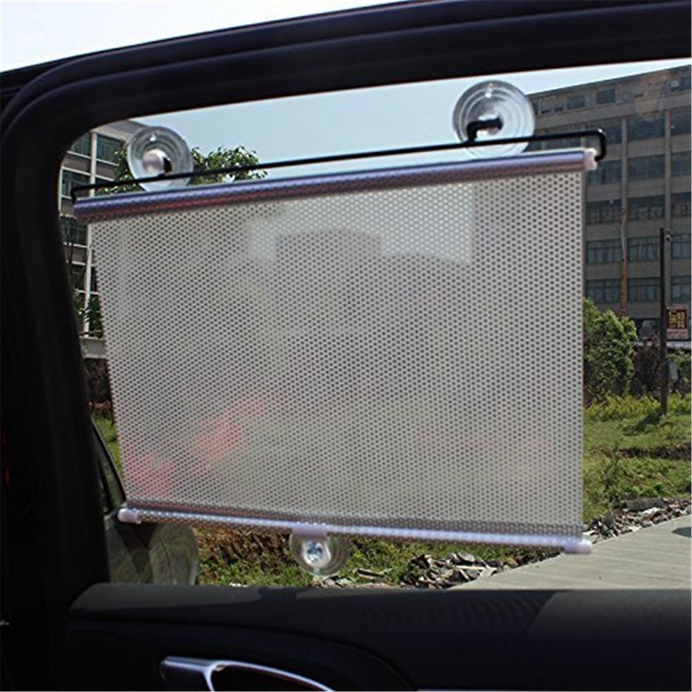 Silver Auto Retractable Car Curtain Front/Side Window Shade Windshield Sun  Shade Shield Visor