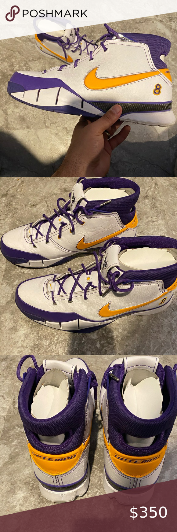Kobe Bryant Nike 1 Los Angeles Lakers Final Second In 2020 Los Angeles Lakers Nike Gold Kobe Bryant