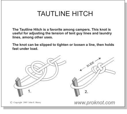 Taught line Hitch. Moveable knot for guidelines.  sc 1 st  Pinterest & Taut line hitch diagram | Survival | Pinterest | Diagram Rope ...