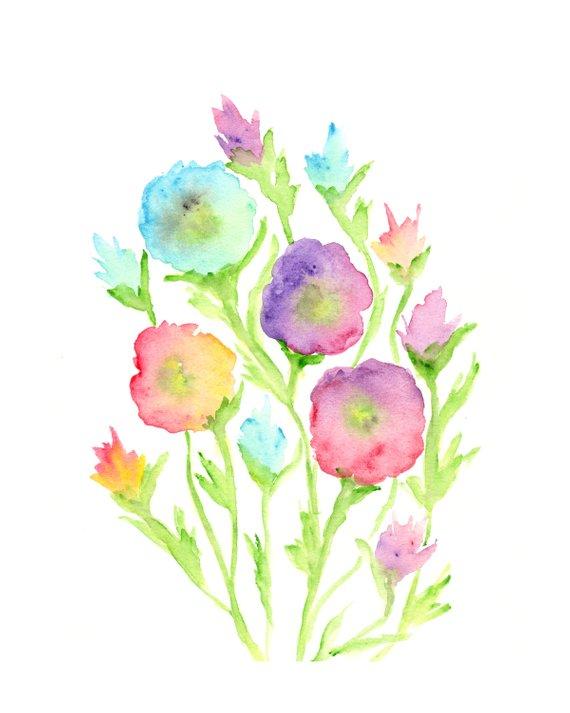 watercolor flower painting watercolor painting flower print